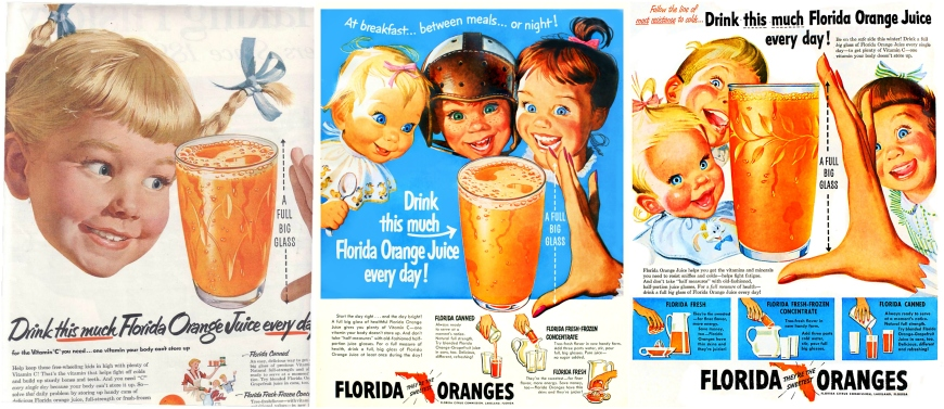 "We know better than to believe these creepy old orange juice ads, but we need to be careful about labeling certain foods as ""bad."""