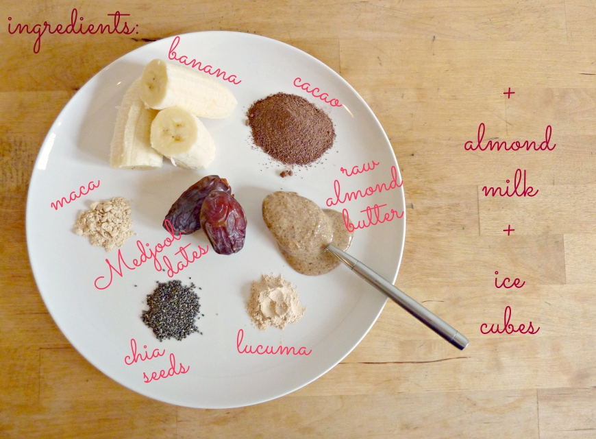 Superfoods Chocolate Shake Smoothie Ingredients