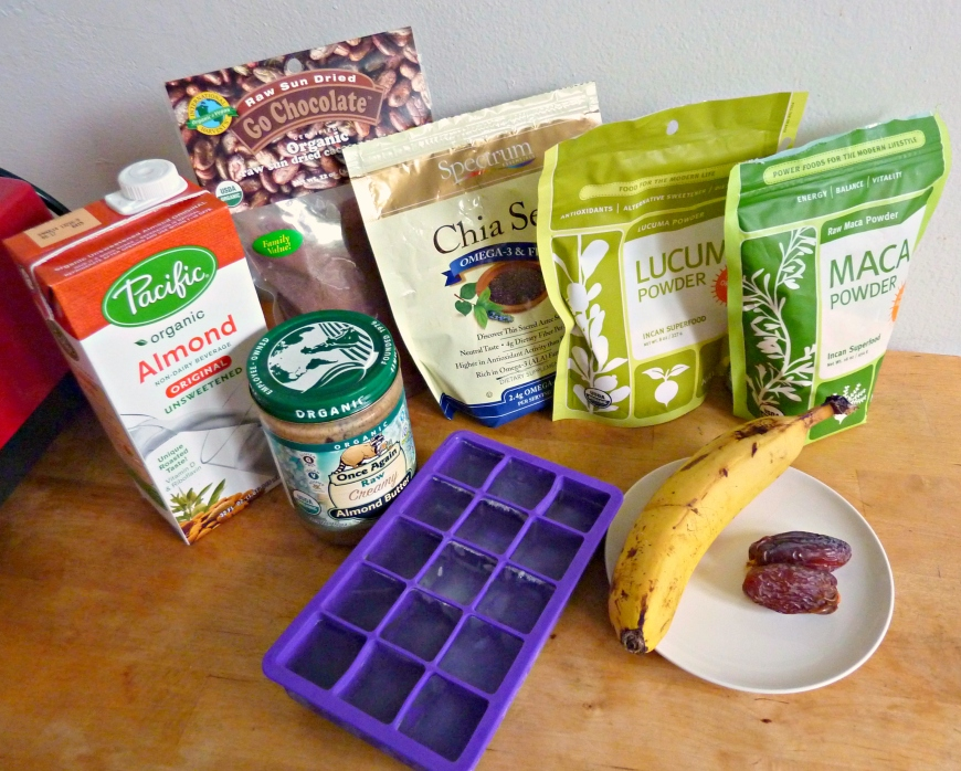 Superfoods Chocolate Shake Smoothie Prep