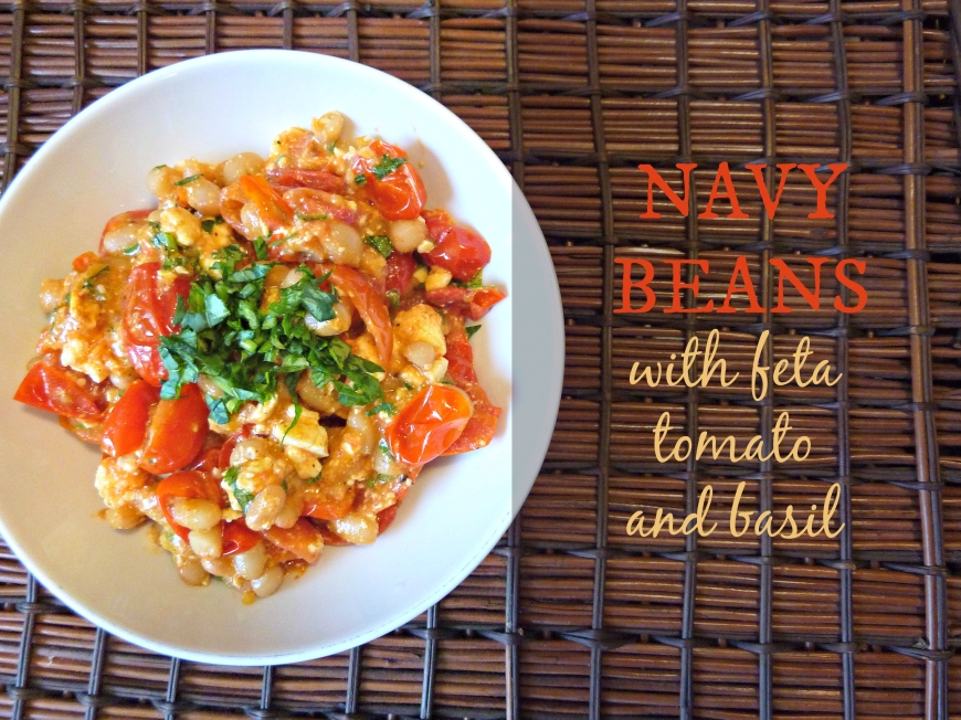 navy beans with feta