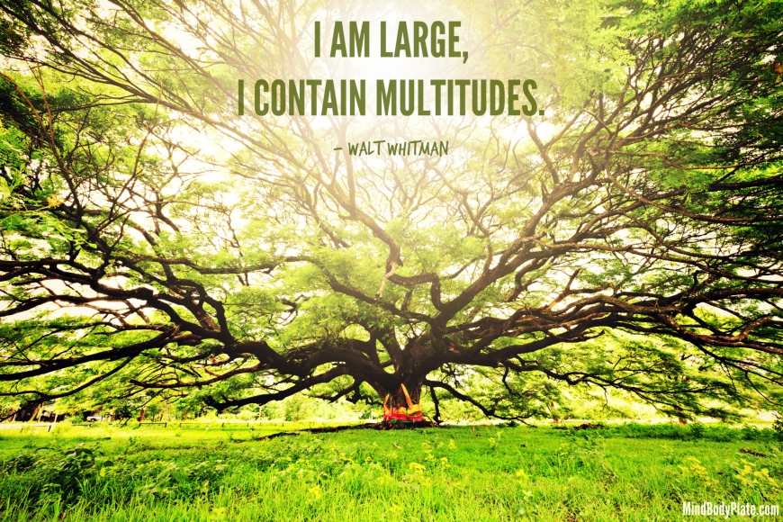 I am large, I contain multitudes - Walt Whitman - MindBodyPlate