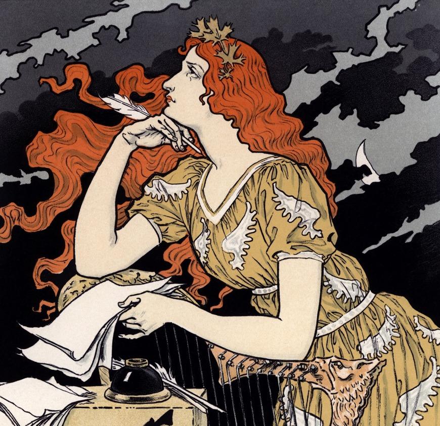 Encre L. Marquet Ad by Eugène Grasset