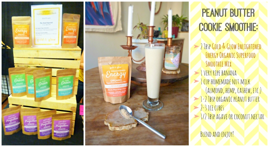 Gold and Glow Peanut Butter Cookie Smoothie | MindBodyPlate
