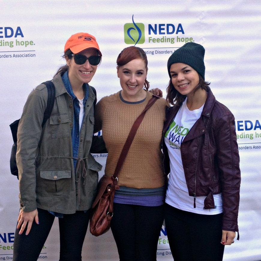 With my amazingly supportive friends at the 2014 NEDA Walk