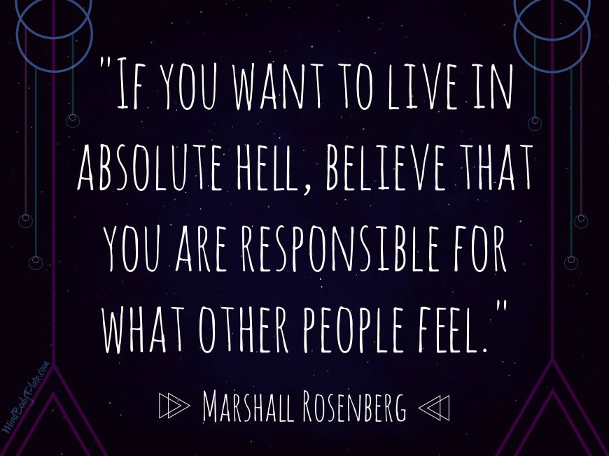 if you want to live in absolute hell | Marshall Rosenberg Quote | MindBodyPlate.com